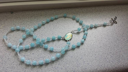 baby blue rosary by 9bornvillain9