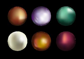 Colorful pearls 01 by eneandine