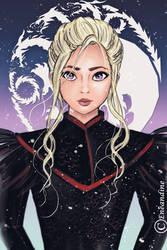 Daenerys Targaryen fanart by eneandine