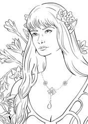 Flower Elf by eneandine