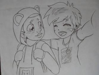 Friendship of Ted and Tigi by Rafaeru01
