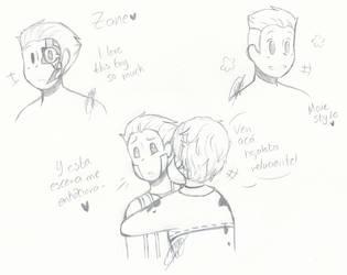 (Ninjago) Zane doodles by KawaiiHetalia721