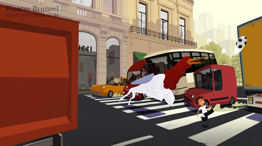 Picture book illustration by WouterBruneel