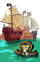 Pirates Illustration by WouterBruneel