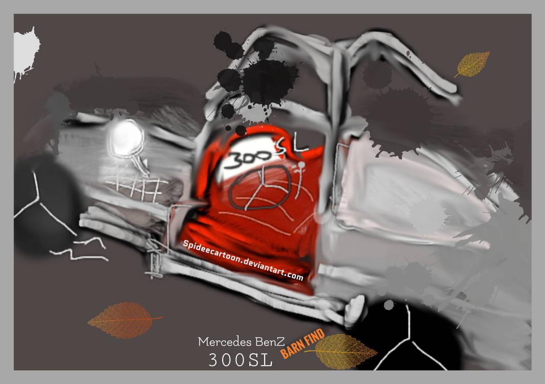Barn find Mercedes by Spideecartoon