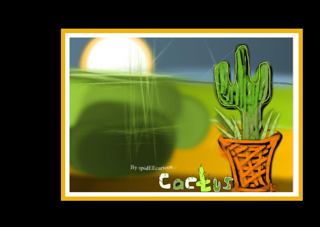 Cacti  by Spideecartoon