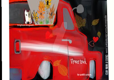 Flower truck by Spideecartoon