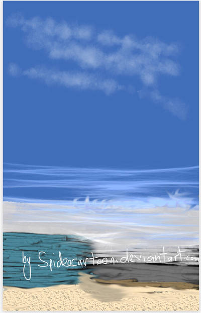 Ocean side by Spideecartoon