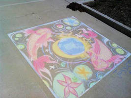 chalk drawing contest, first place!!! X3 by kitsunefire7