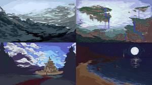 Pixel Landscape Concepts by BraddyApples
