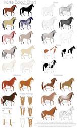 Horse Colour Chart by Gaurdianax
