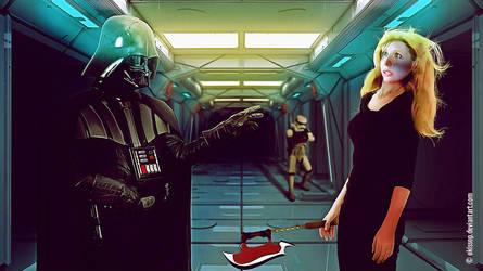 Darth Vader VS Buffy by okissop