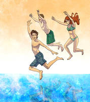 swimmin in the tardis by doven