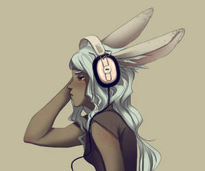 bunnyheadphones by doven