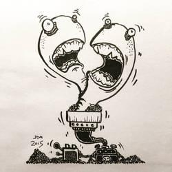 Inktober #7: Worm Generator by 19cartwheels