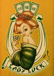 Geisha lady luck by ElPino0921