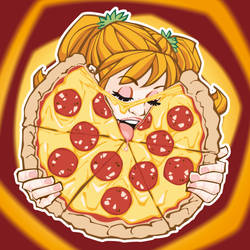 Pizza Girl by ElPino0921