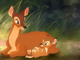 bambi and his mother by snuf12