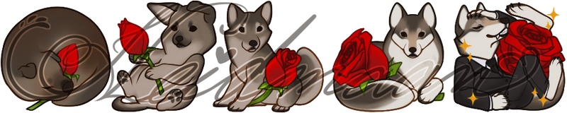 Sugawolf Twitch Badges by AnimaGlacialis