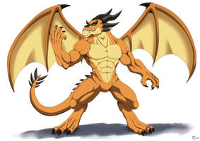Humanoid Dragon by ktmz27