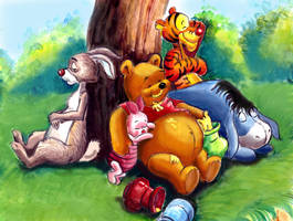 Winnie the Pooh and Friends by HoneyBees987