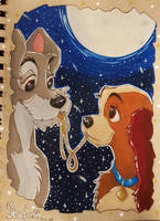 Lady and the Tramp Prismacolor by seles66