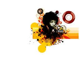 Jimi Hendrix by sovereignali