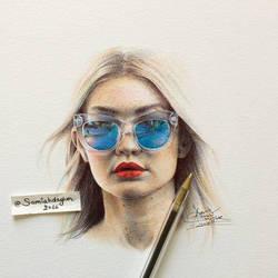 Gigi Hadid by samiahdagher