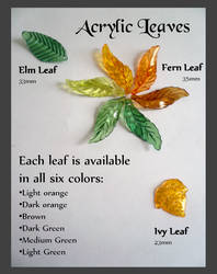 Acrylic Leaves by Starlit-Sorceress