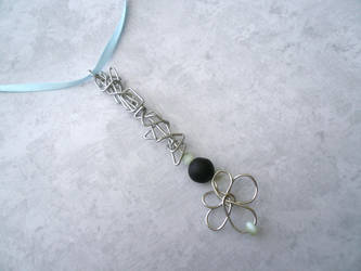 Stone Snowflake V -- Stealth Bubble Wand Necklace by Starlit-Sorceress