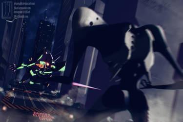 EVA-01 VS SACHIEL by jebaena91
