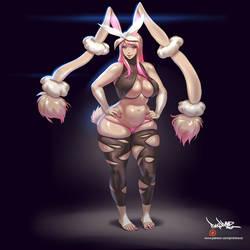 Mega Lopunny Girl by pinkdrawz