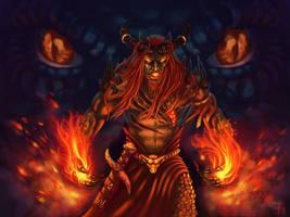 Dragon Warlock by monorok