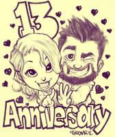 13 Anniversary by renecordova