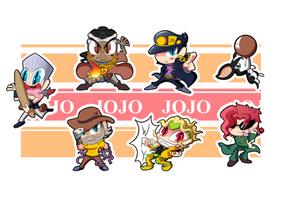 Jojo Part 3 Chibis - Sheet 1 by BLARGEN69