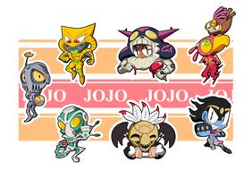 Jojo Part 3 Chibis - Sheet 2 by BLARGEN69