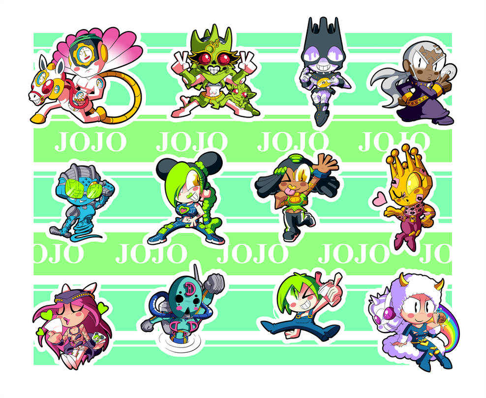 Jojo Part 6 Chibis by BLARGEN69
