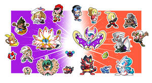 Pokemon Alola Sticker Set! (1 of 3) by BLARGEN69