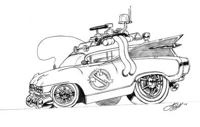 Ghostbusters Car by gwdill
