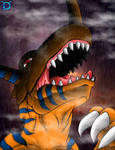 Angry Greymon by Mysterious-D