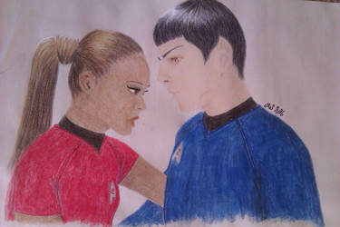Uhura and Spock by fanficgirl155