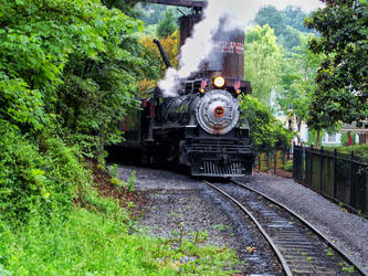 Steam Engine Coming Right at Me by fuhrerjeff