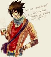Hipster Sasuke by CarrotCakeBandit