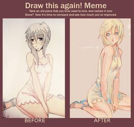 draw this again meme by CarrotCakeBandit
