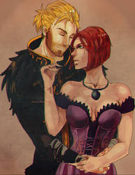 anders and leiliana by CarrotCakeBandit