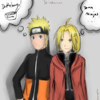 Edward Elric And Naruto Uzumaki by Akainai