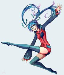 Miku Hatsune void by Akainai