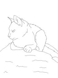FREE TO USE Cat Lineart~ by XxSmileBrightxX