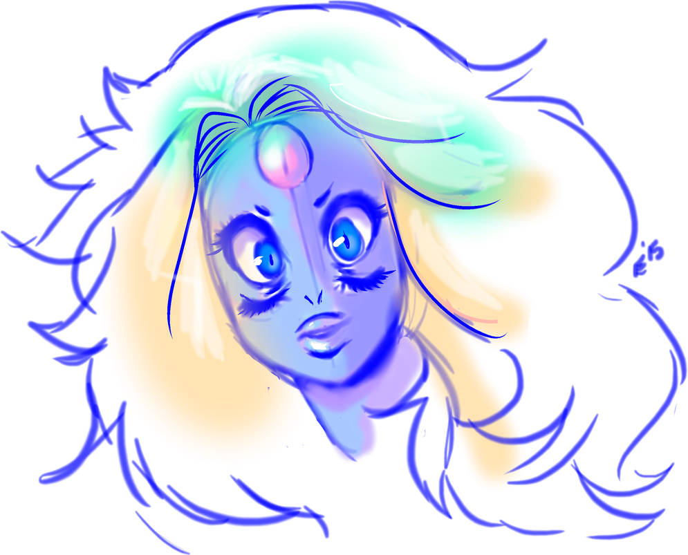 Today's Episode blew me away, so I did a quick sketch of Rainbow Quartz which I will make into a fully rendered thing when I get time. #Rose4lyfe #Pearlstopbeingahater