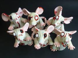 Zombie Rats Batch 2 by philosophyfox